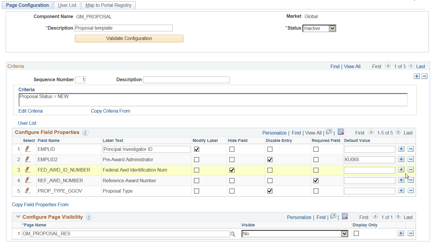 PeopleSoft Page and Field Configurator